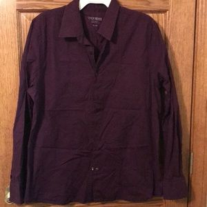 Men's purple Guess dress shirt